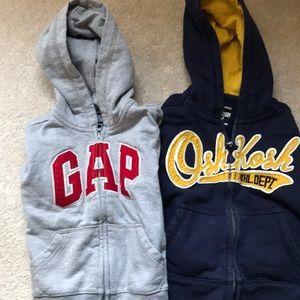 Bundle of boys 3T sweatshirts